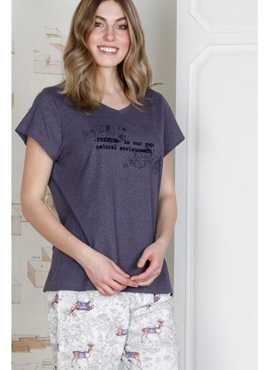Hays Kadın Penye Pijama Takımı Mor